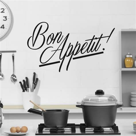 kitchen wall decor stickers bon appetit wall sticker kitchen quotes wall decal cafe restaurant home decor