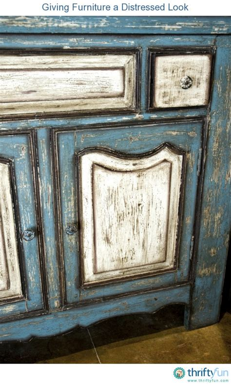 How Do You Distress Furniture by Giving Furniture A Distressed Look Thriftyfun