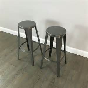 Metal Bar Stools Galvanized Metal Bar Stools Set