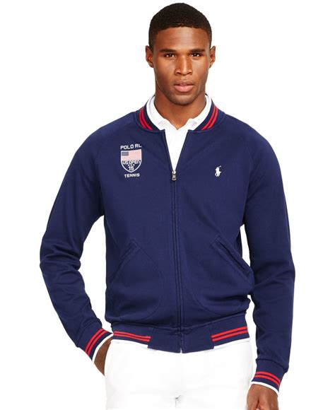 Vest Hoodie Zipper Polos Abu K21 polo ralph us open zip interlock jacket in blue for lyst