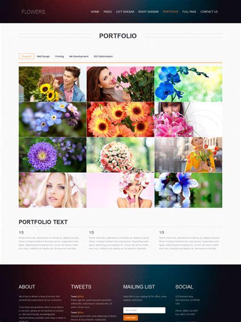 Wedding Flower Websites by Wedding Flower Web Template Flower Website Templates