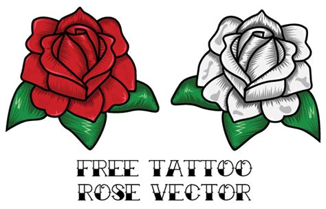 vector rose tattoo design download free vector art