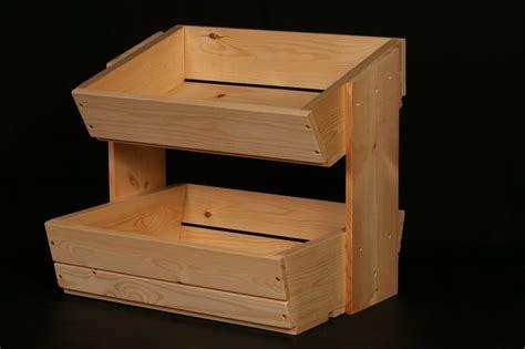 wooden fruit  vegetable storage rack  tier diy