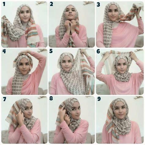tutorial hijab segitiga motif tutorial cara memakai hijab segitiga simple dan keren