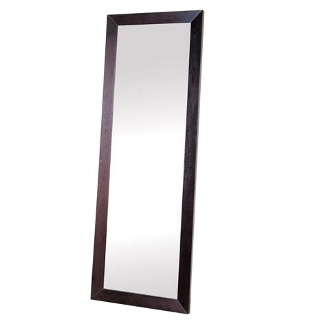 shop beverly hills furniture 36 in x 79 in rectangle floor mirror at lowes com