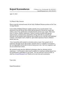 Sle Cover Letter For Early Childhood Educator by Early Childhood Education Resume Sles Fashion Cover