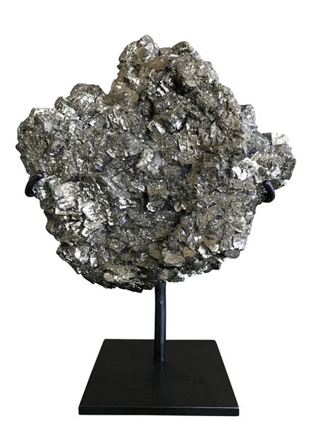decorative objects for home balsamo antiques pyrite mineral on stand
