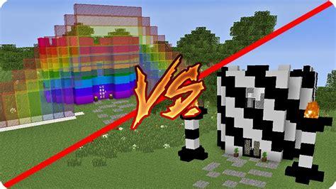 imagenes de minecraft a blanco y negro casa arcoiris vs casa en blanco y negro en minecraft youtube