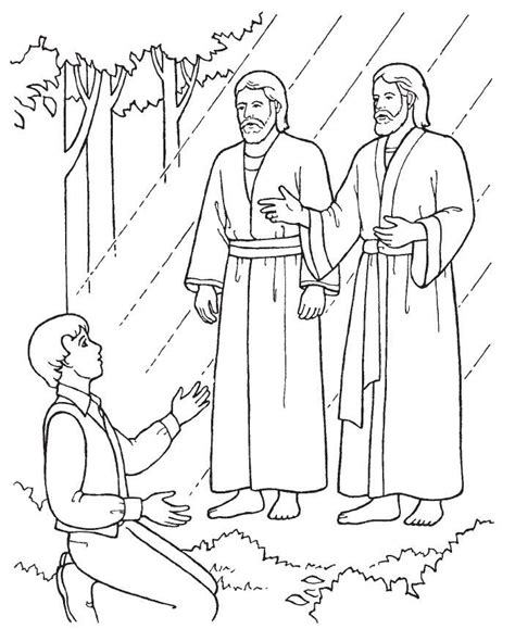 joseph smith coloring page az coloring pages
