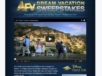 Disney Dream Vacation Giveaway - afv dream vacation sweepstakes sweepstakes fanatics