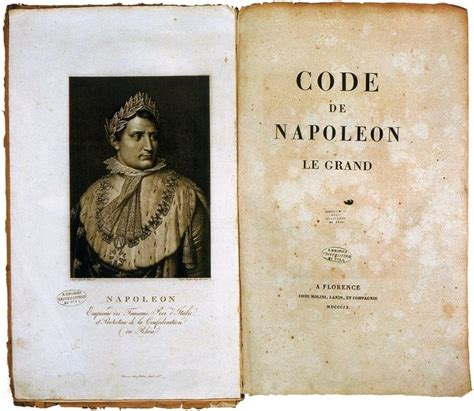 the code napoleon or the civil code literally translated from the original and official edition published at in 1804 classic reprint books napoleonic code the civil code established