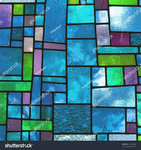 blue stained glass l image multicolored stained glass window irregular stock