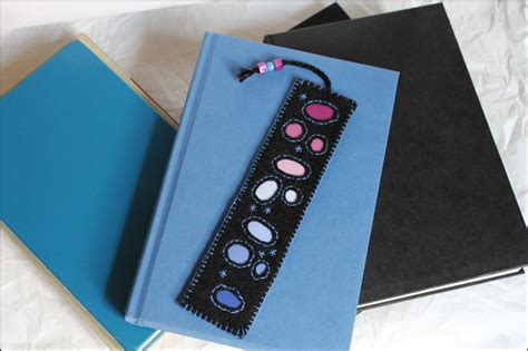 Handmade Bookmark Images - handmade bookmark felt paint chips and embroidery