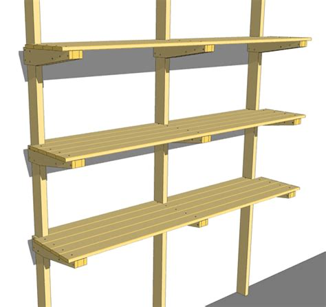 Garage Shelving Woodworking Plans Garage Shelf Plans