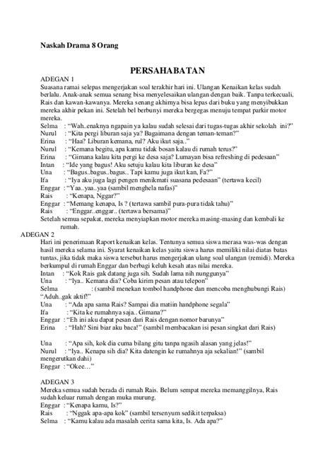 contoh naskah drama persahabatan 5 orang naskah drama singkat bahasa inggris malin kundang tempat yes