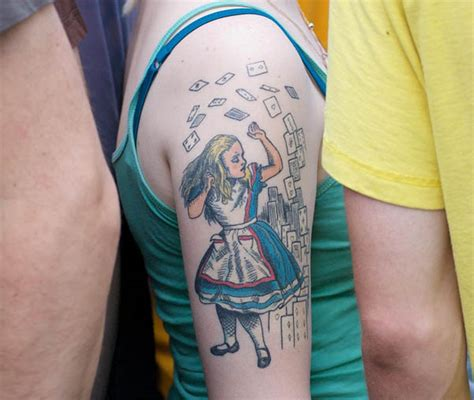 alice tattoo color lewis carroll alice cards tattoo