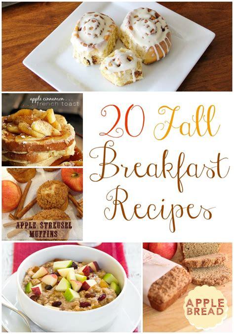 20 fall breakfast recipes