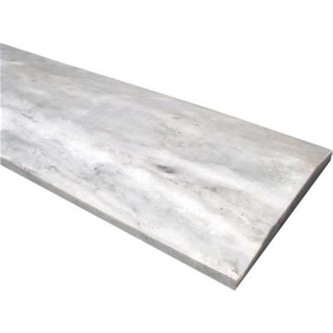 ms international white double hollywood threshold 5 in x 36 in polished marble floor and wall