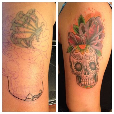 skull cover up tattoo cover up with sugar skull tattoos