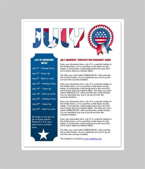 Word Document Newsletter Templates Free