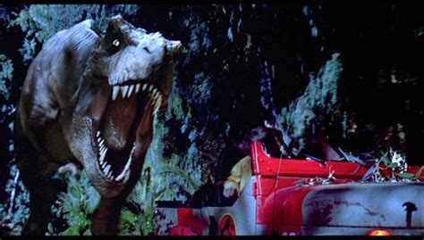film dinosaurus jurassic park t rex could not have chased that jeep in jurassic park