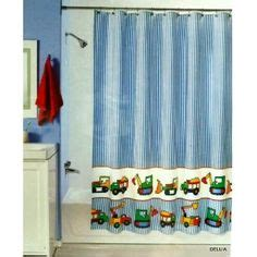 Boy Shower Curtains Car And Truck Shower Curtain Bathroom Pinterest Cars Kid And Quilt