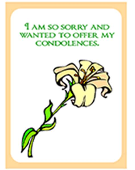 free printable i am sorry and want to offer my condolences