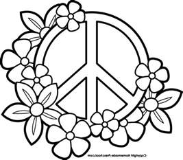 peace sign coloring pages print perfect coloring peace sign coloring pages print