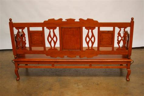 teak swing bench british colonial teak swing back bench at 1stdibs