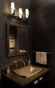 Small Home Office Guest Room Ideas - dark country rustic bathroom by david kaplan