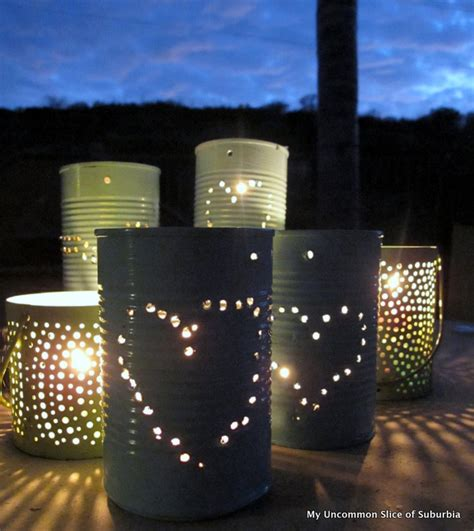 Diy Lantern Lights Diy Tin Can Lanterns Home And Diy