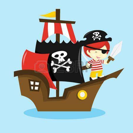 dibujos animados barcos piratas pirata caricatura una ilustraci 243 n vectorial de dibujos