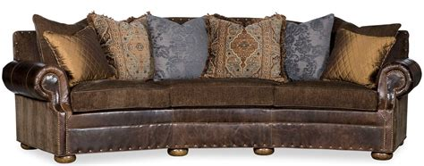 southwest style curved sofa