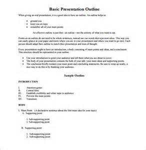 presentation outline template presentation outline template 26 free sle exle