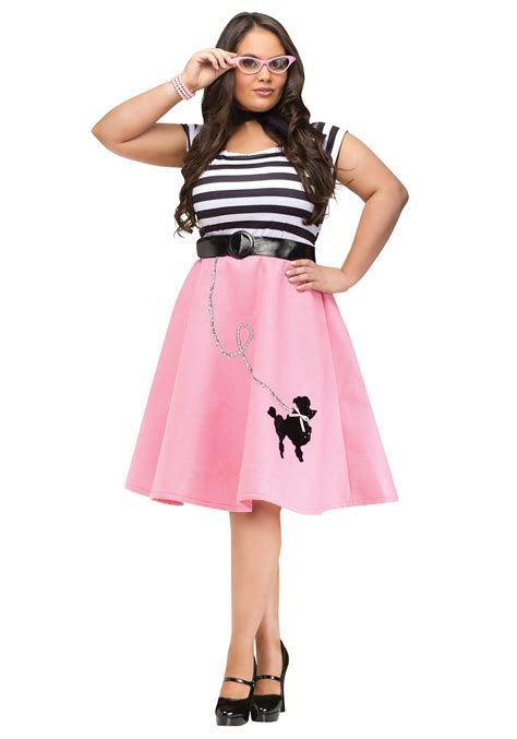 Skirted Dresses by Plus Size Poodle Skirt Dress Ebay