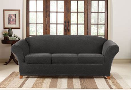 3 Cushion Sofa Covers Sure Fit Stretch Corduroy Sofa