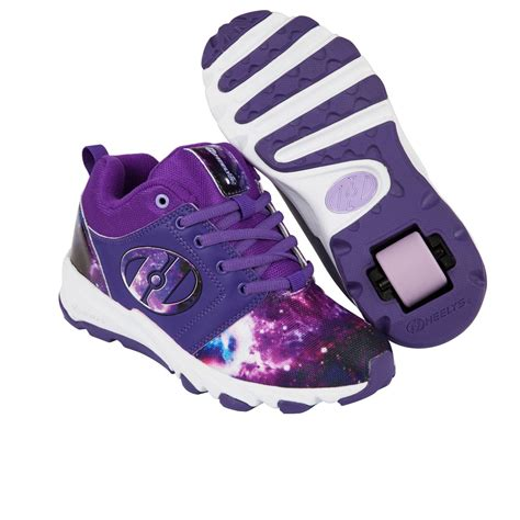 heelys shoes heelys hightail skate shoes purple galaxy free uk