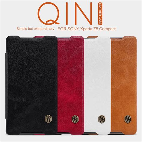 Flip Cover Sony Xperia Z5 Mini Compact Leather Magnetic nillkin qin series leather for sony xperia z5 compact