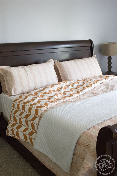 orange and white comforter modern bedding update the diy village