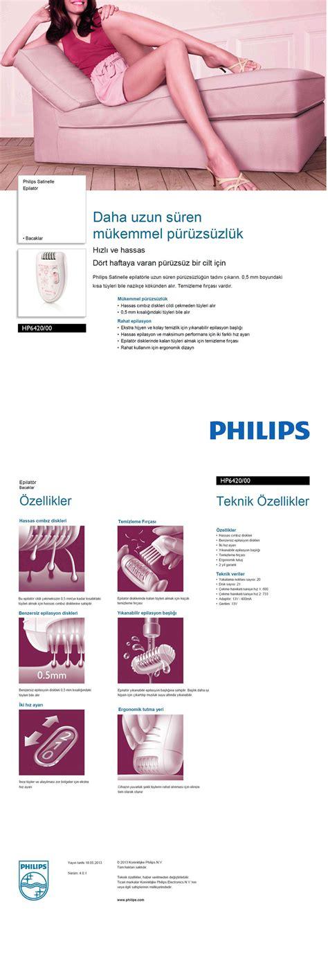 Laris Epilator Philips Hp 6420 philips satinelle serisi hp6420 00 epilat 246 r fiyat