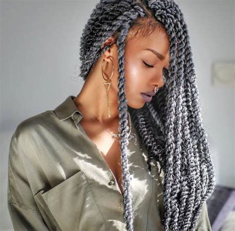 marley twist hair gray grey twists l black hair braids locs twists