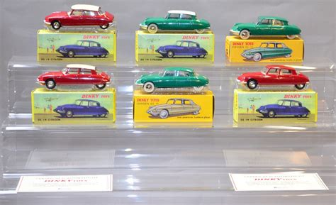 6 Atlas Edition Dinky Toys all Citroen DS19 variations (VGB)