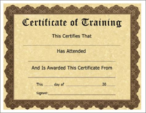 nwcg certificate template free printable training certificate templates