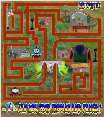printable games online printable thomas tank maze game online for kids train