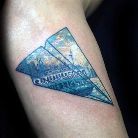 paper airplane tattoo meaning tattoo collections