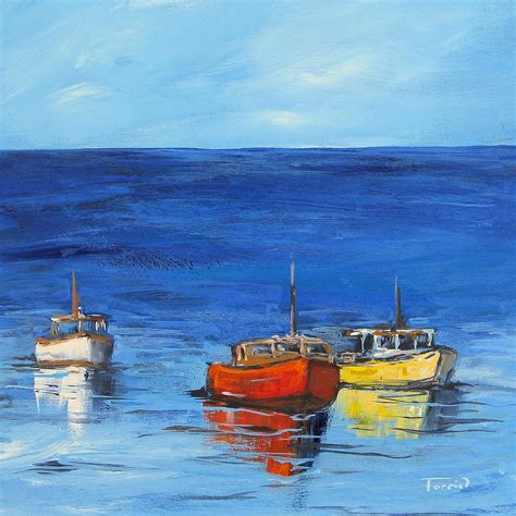 boat paint prices three boats painting by torrie smiley