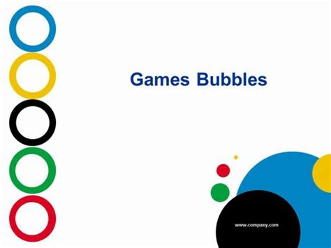 powerpoint themes games games bubbles