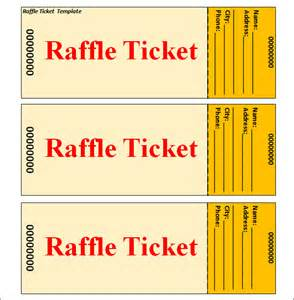 Raffle Ticket Templates by Raffle Ticket Template