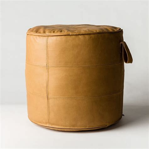 round leather ottomans round leather ottoman amazing of leather round ottoman