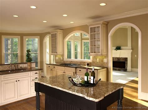 Pictures Of Kitchens Traditional Two Tone Kitchen Cabinets Kitchen Wall Color With White Cabinets